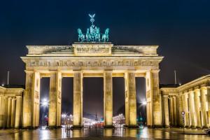 Brandenburg Gate, Berlin, Germany, at night