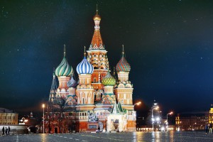 St. Basil Cathedral, Moscow Kremlin, night view