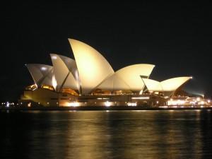 Sydney Opera House, Australia, night view