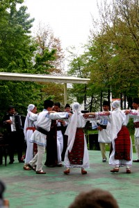 Traditional Romanian folklore dance