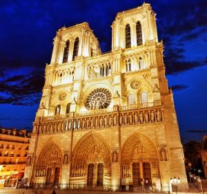 Notre Dame de Paris, night view