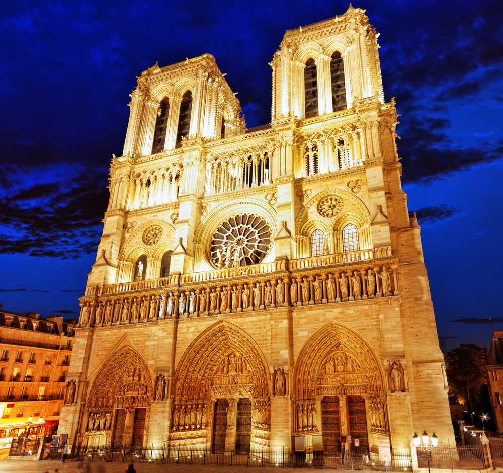 Notre Dame de Paris, night view