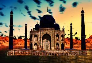 Taj Mahal, night view