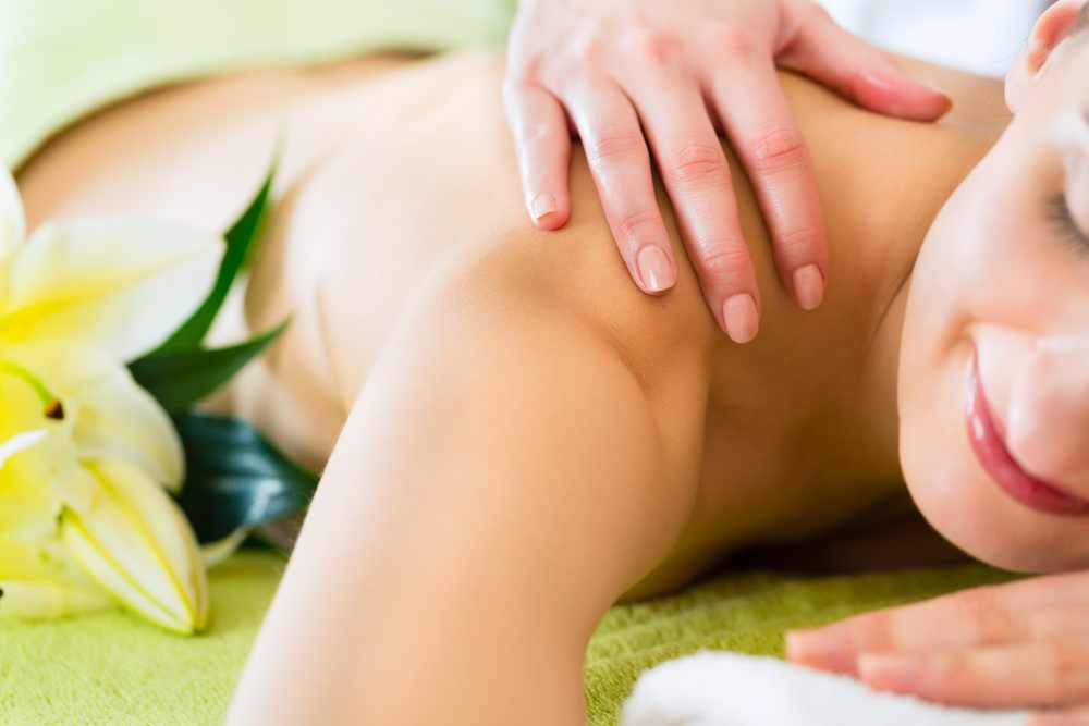 woman spa massage