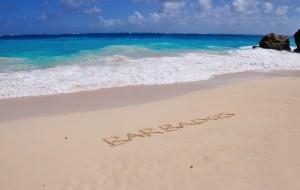 Barbados white sand beach_write