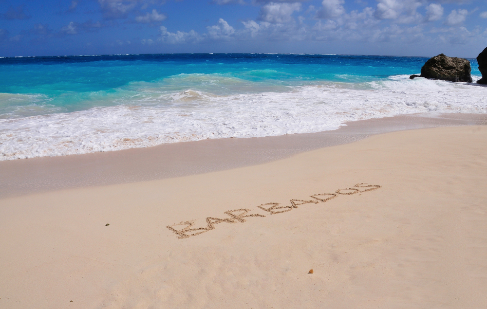 Barbados white sand beach_write