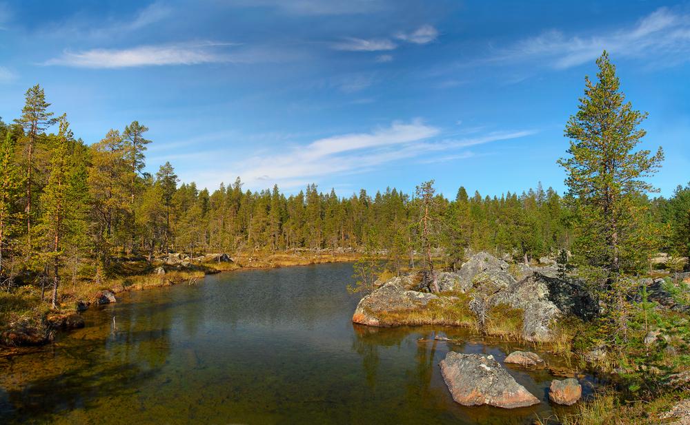 Lake Inari, Lappland, Finland