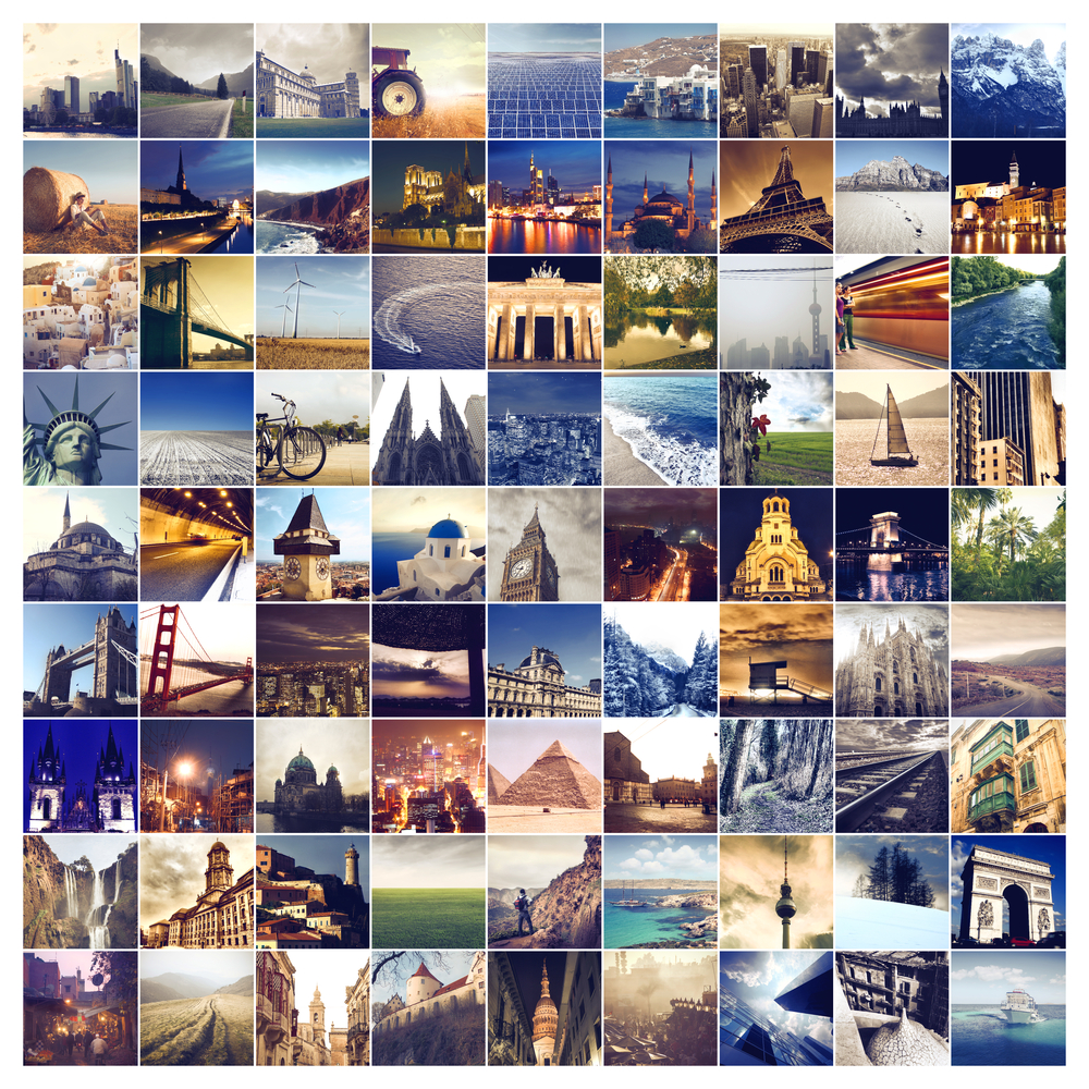 collage of many places around the world