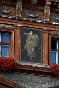 """art on """"Transilvania"""" University in Brasov building"""