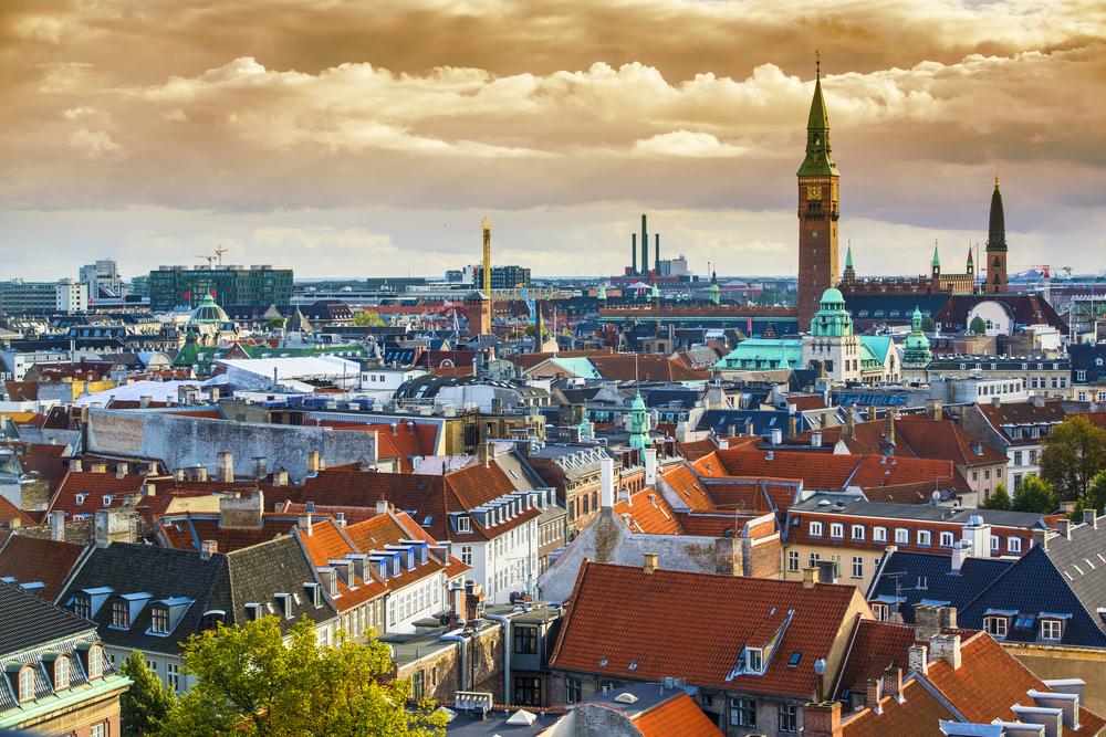 Copenhangen, Denmark aerial view