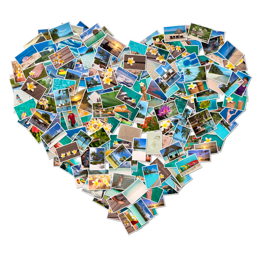 photos collage heart