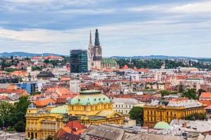 Zagreb - Panorama of the city center