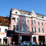 Brasov - The National Bank of Romania's branch and The National Anthem Museum (Casa Muresenilor)
