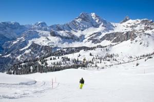 Switzerland Alps skiing
