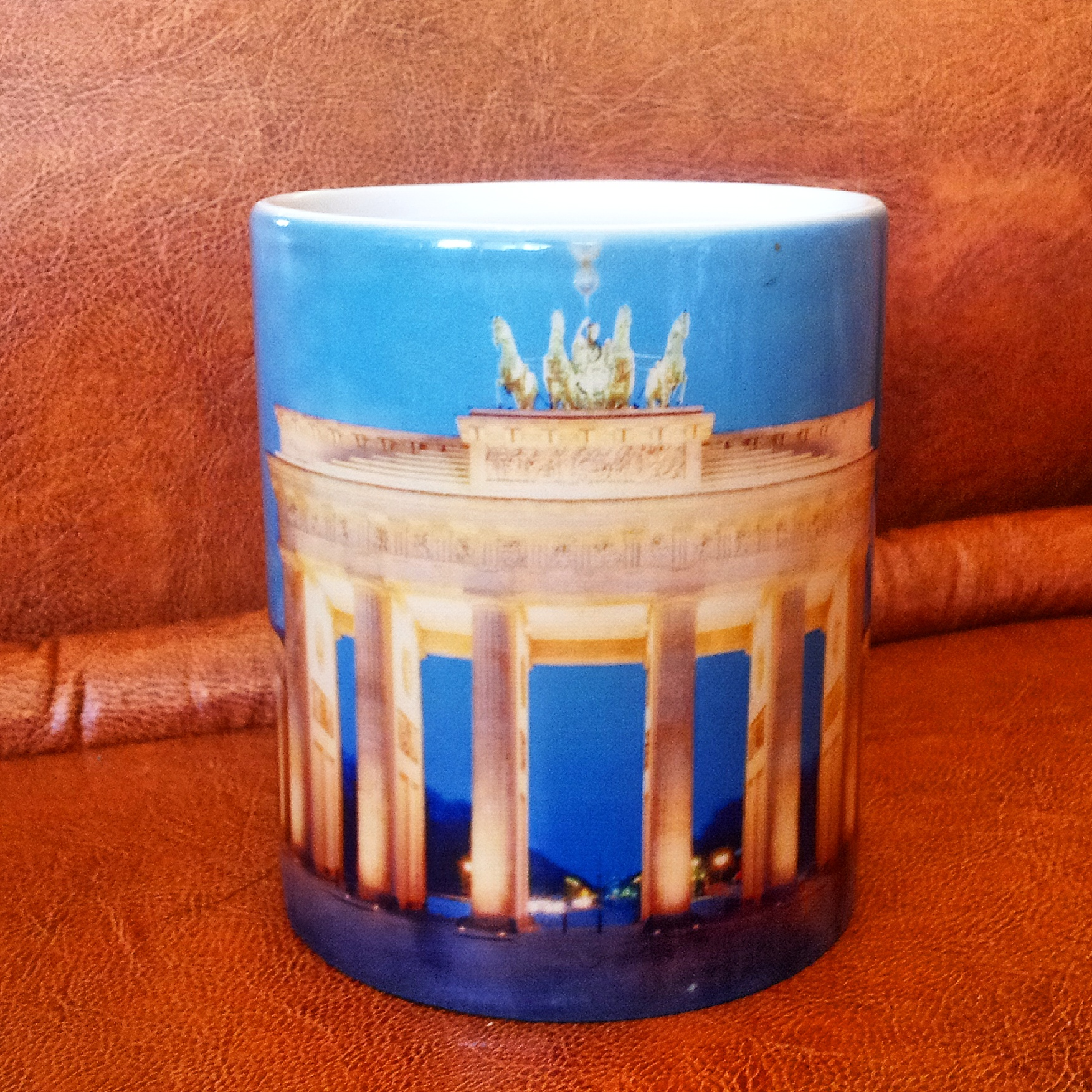 Heat sensitive mug from Berlin, Germany - travel souvenir