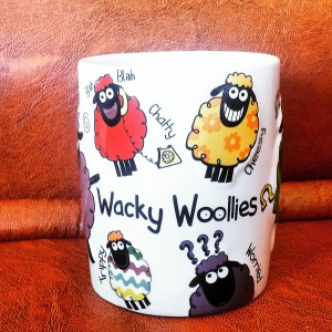 Funny Wacky Woolies mug from Dublin, Ireland - travel souvenir