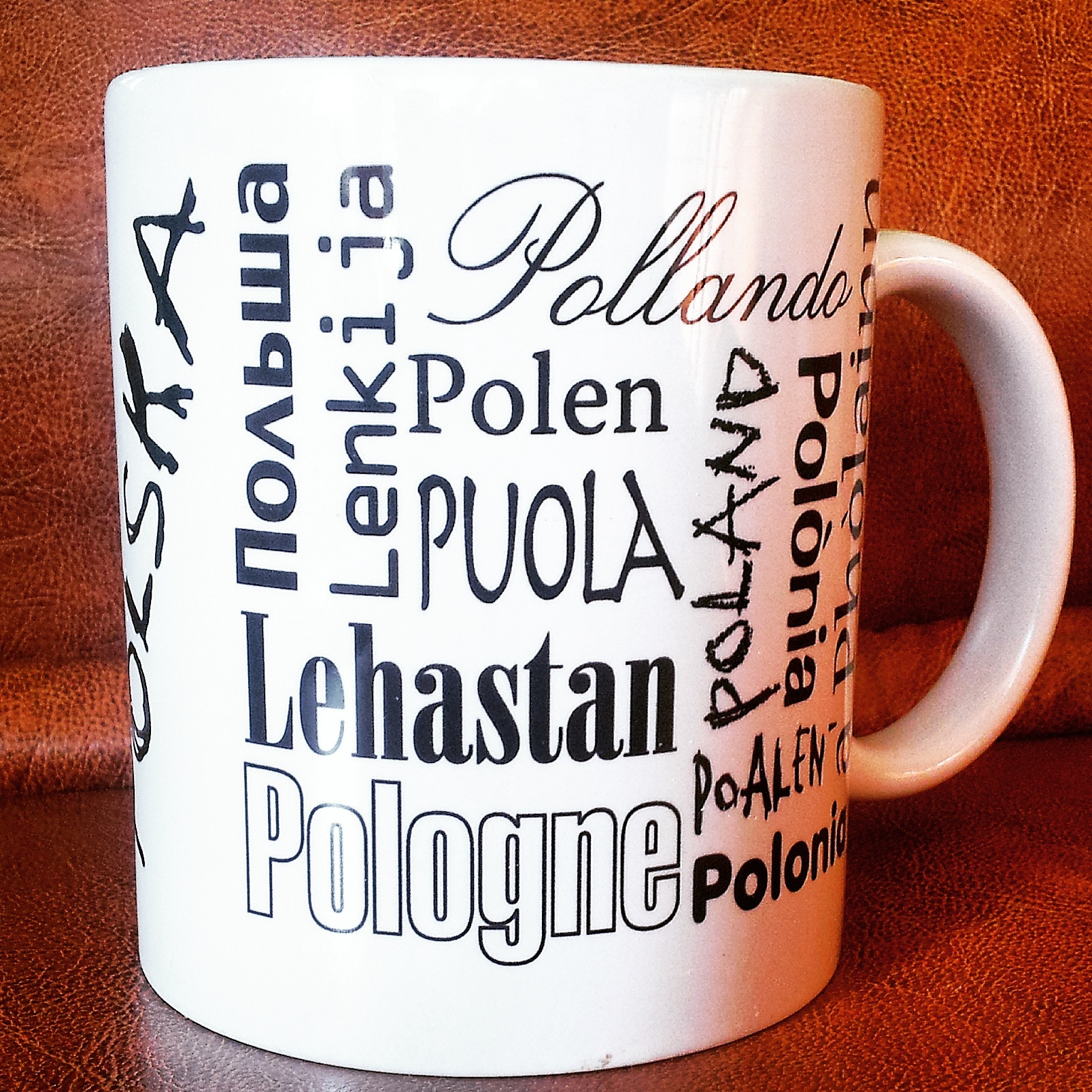 Mug from Poland, latest in my collection - travel souvenir