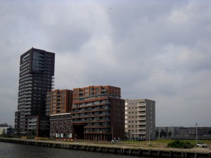 Rotterdam seen from the boat