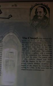 Corvin Castle: The Chapel - explanation