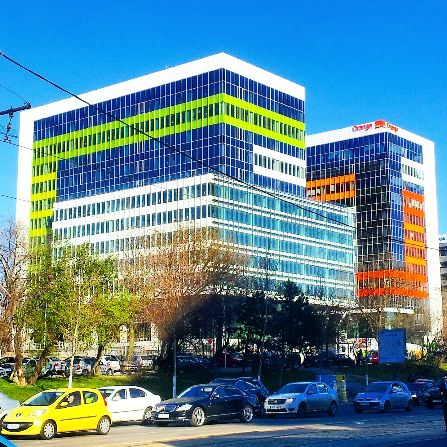 colorful business building