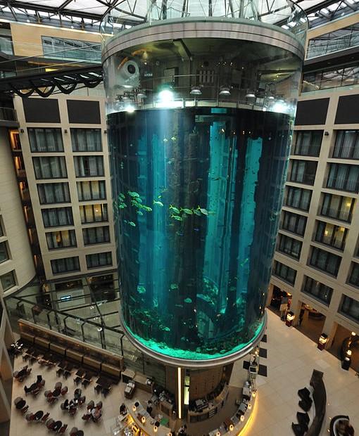 AquaDom at the Radisson Blu in Berlin, Germany