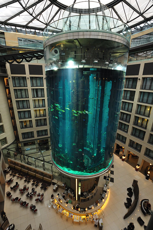 AquaDom at the Radisson Blu in Berlin, Germany