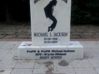 Monument dedicated to Michael Jackson in Herastrau Park, Bucharest