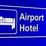 Airport Hotel sign Hong Kong