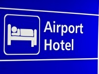Airport Hotel sign Hong Kong