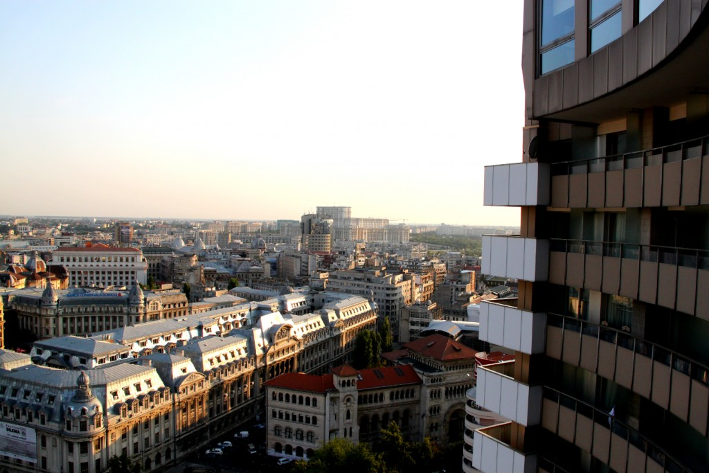 Bucharest seen from the Presidential Suite at Intercontinental Hotel1