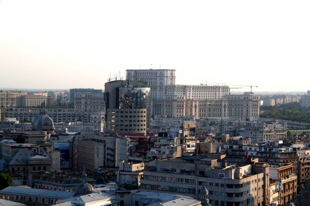 Bucharest seen from the Presidential Suite at Intercontinental Hotel - People's House