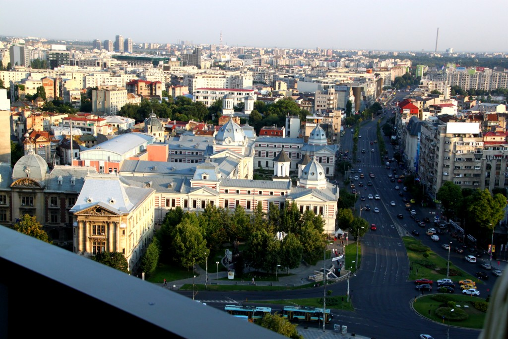Bucharest seen from the Presidential Suite at Intercontinental Hotel7_Coltea Hospital - Piata Universitatii