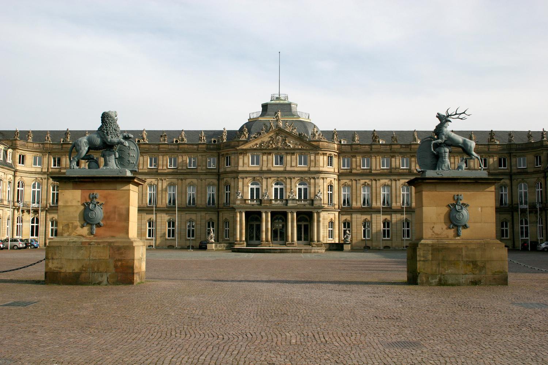 Stuttgart Square Schlossplatz and Neues Schloss (new castle)