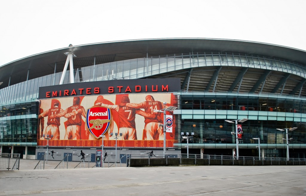 The Emirates stadium, home of Arsenal