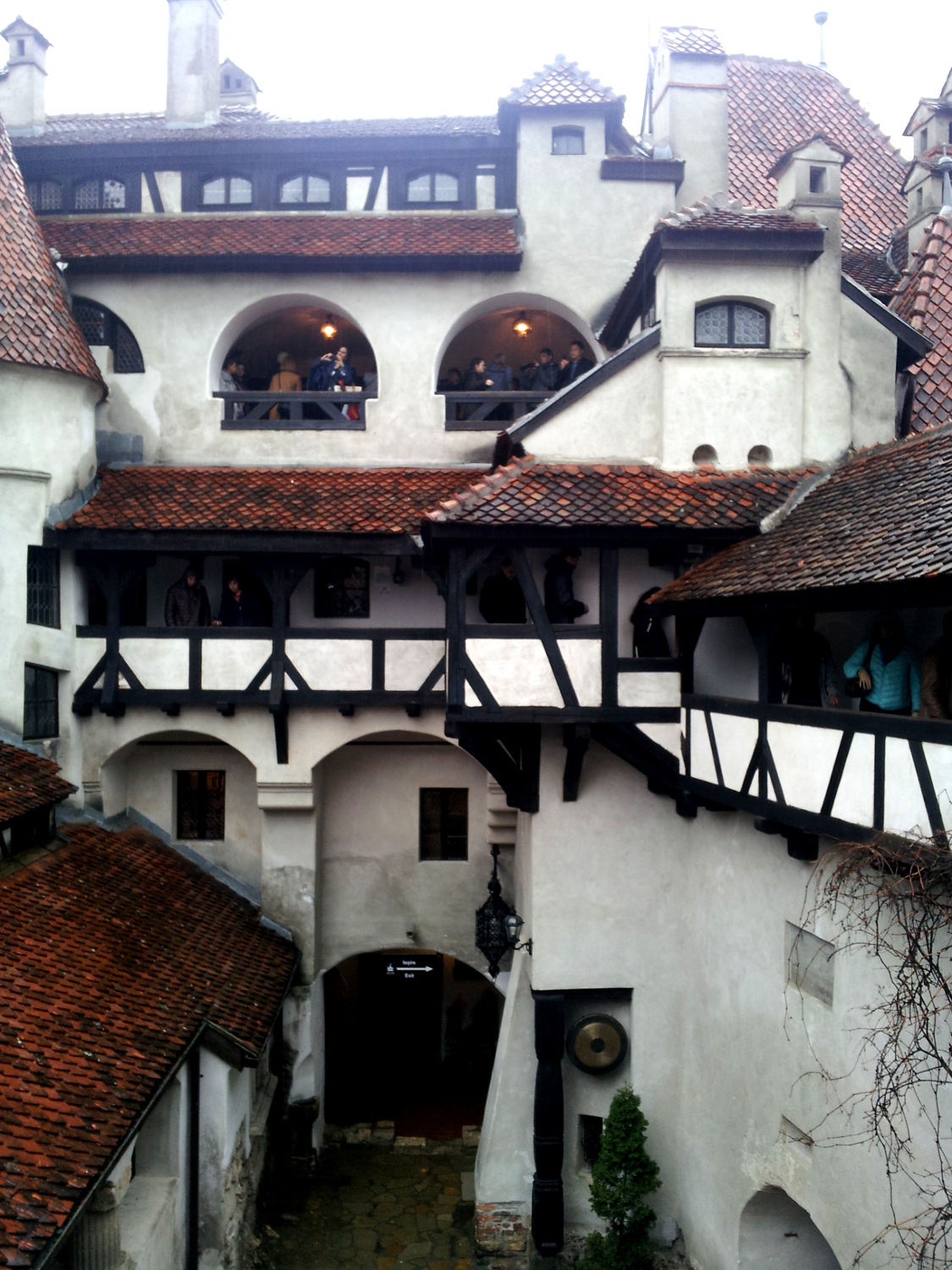 Bran Castle - view of the interior garden - another side