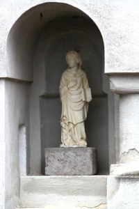 Bran Castle - Statue of The Virgin Mary