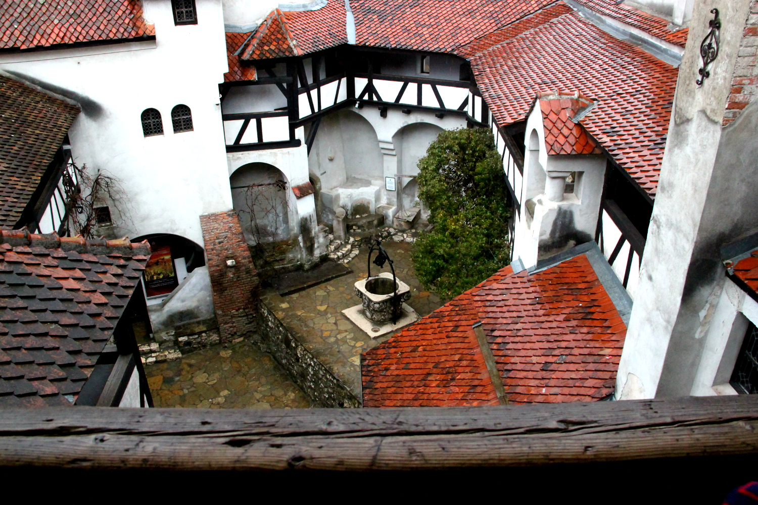 Bran Castle - view of the interior garden