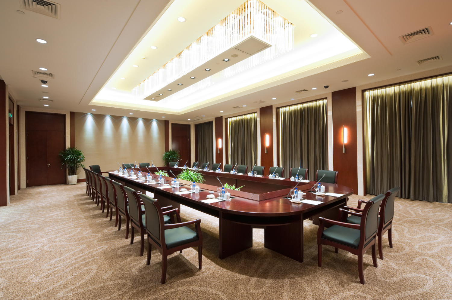 conference room in a hotel
