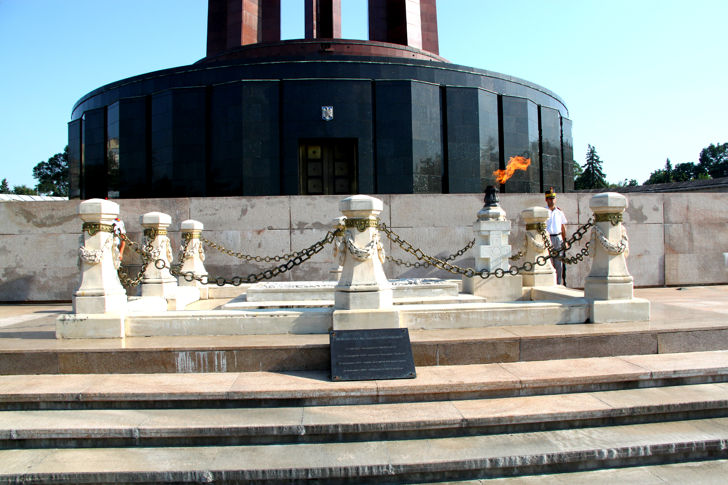 Tomb of the Unknown Soldier in Carol Park, Bucharest, Romania