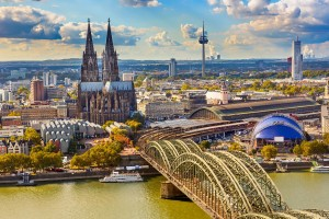 Cologne, Germany - aerial view