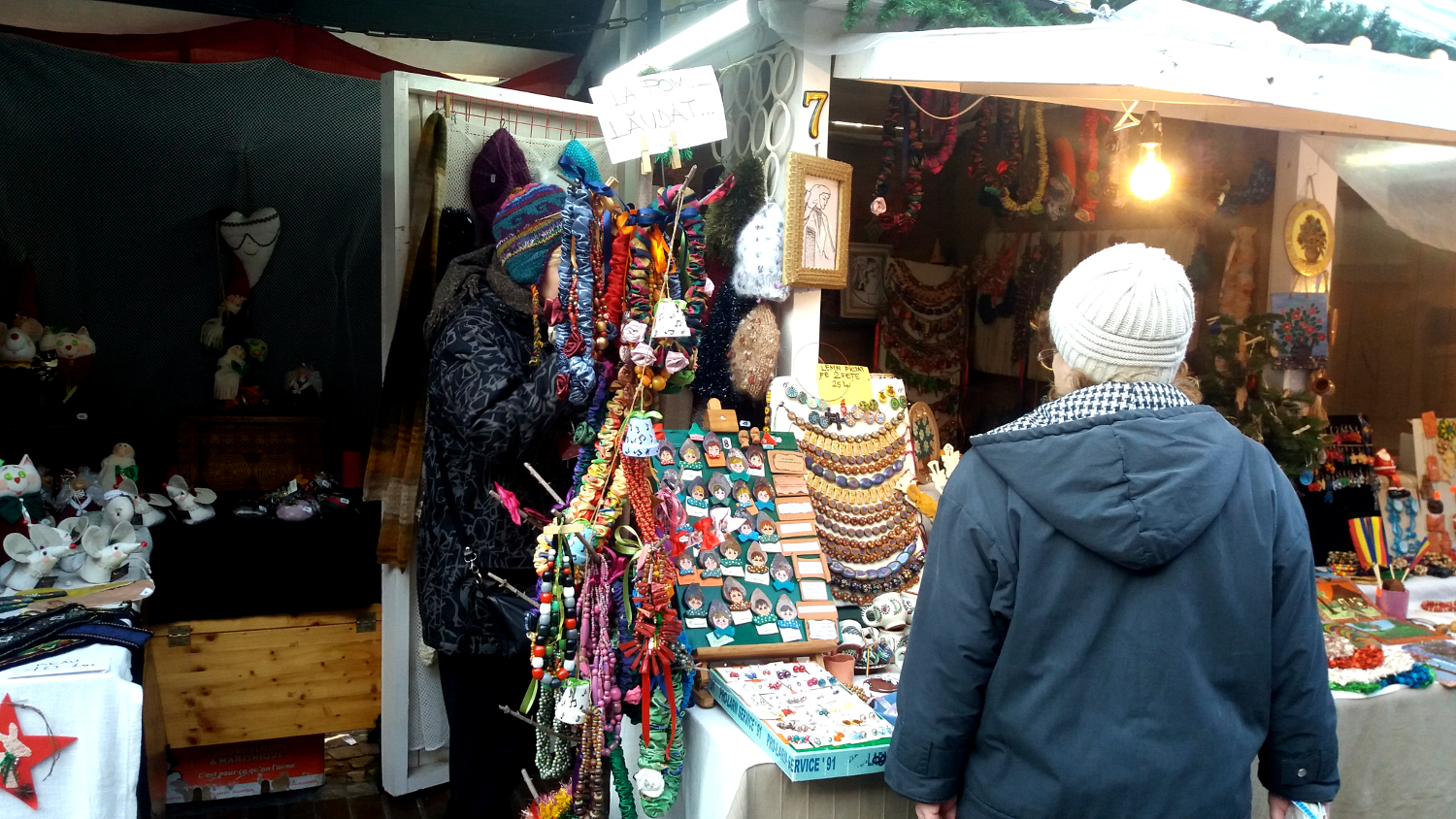 Bucharest Christmas Market - handmade jewelry