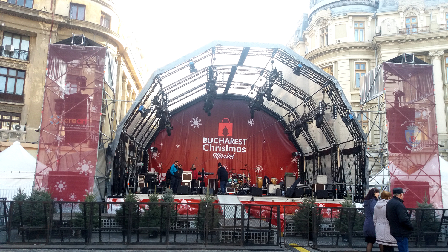 Bucharest Christmas Market - stage