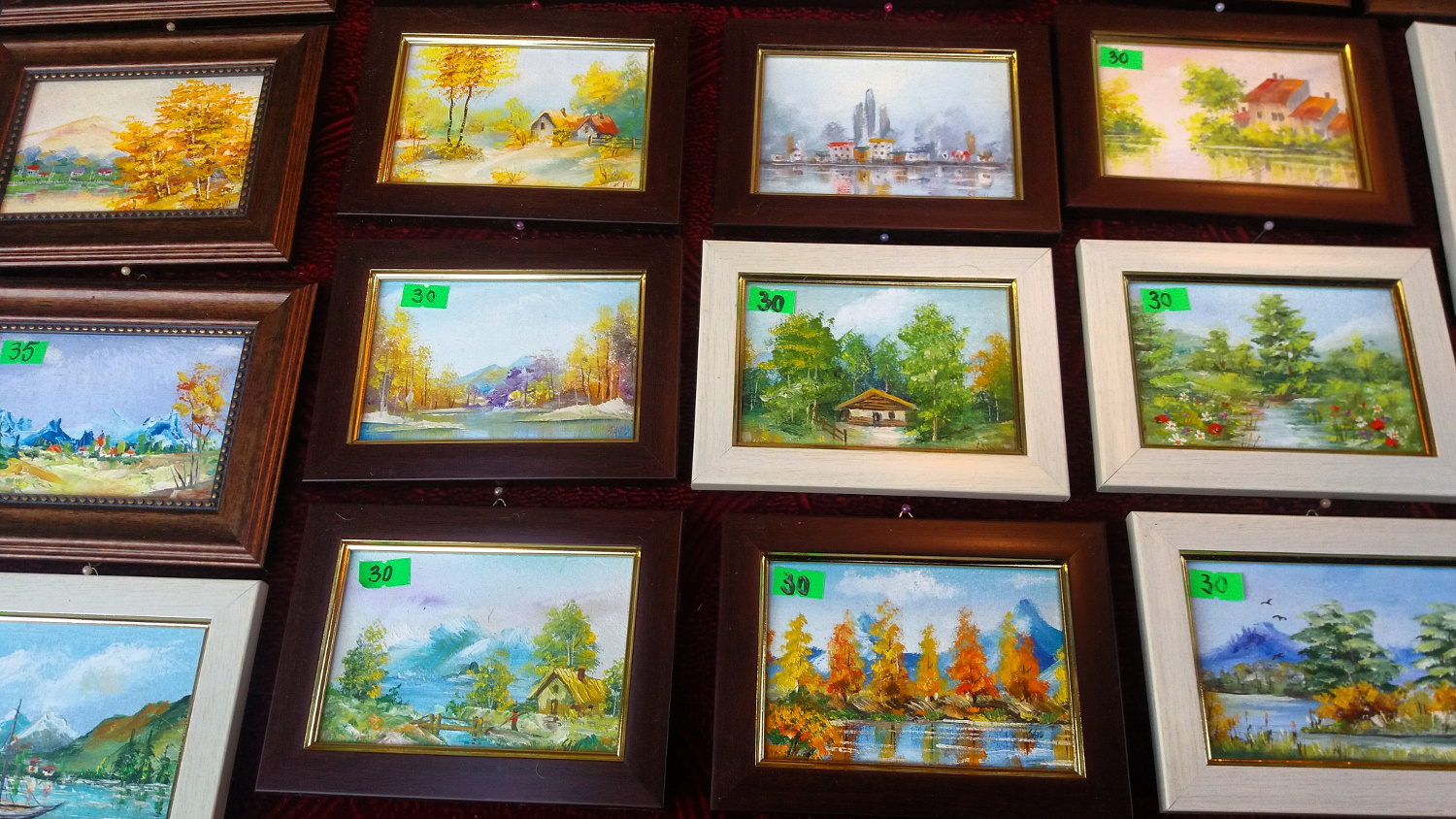 Bucharest Christmas Market - paintings