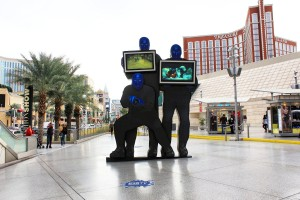 Blue men in Las Vegas