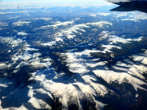 Mountains seen from the airplane