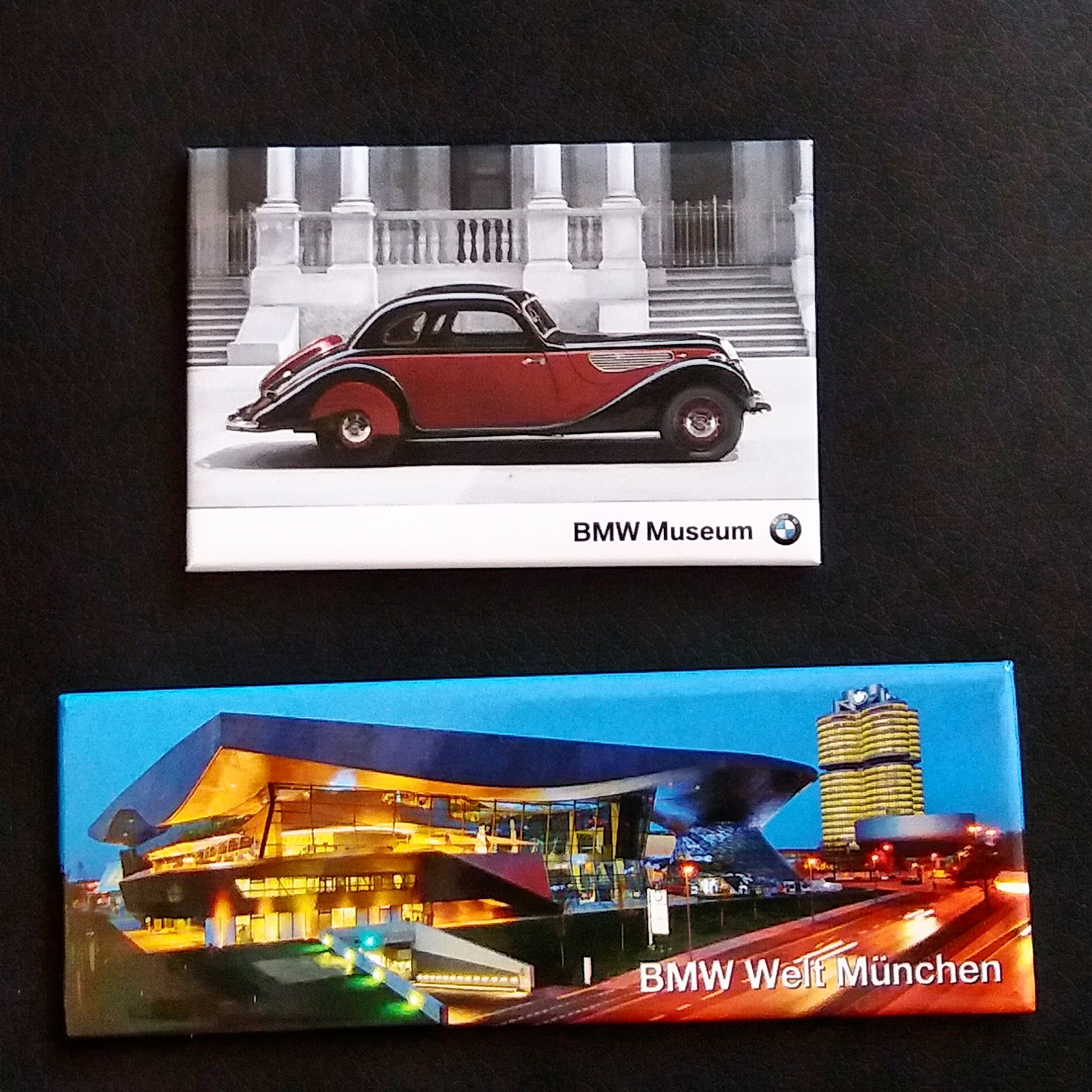 Fridge magnets from BMW Welt, Munich