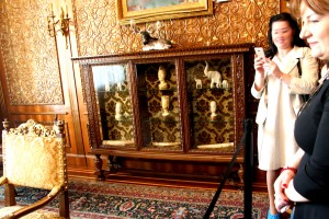 Primaverii (Spring) Palace, Ceausescu's private residence - Nicolae Ceausescu's apartment - day room - showcase with gifts received