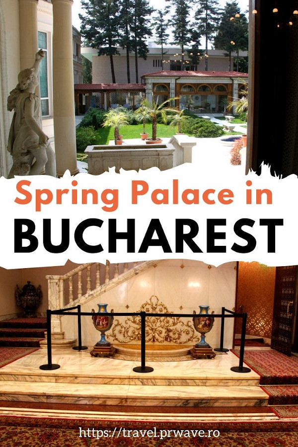The Spring Palace in Bucharest is one of the best places to visit in Bucharest. Ceausescu's residence is a new landmark in Bucharest and you should include it on your Bucharest trip. New place to visit in Bucharest: Spring Palace Romania. #springpalace #bucharest #visitbucharest #discoverbucharest #romania #traveltips #travelmomentsintime