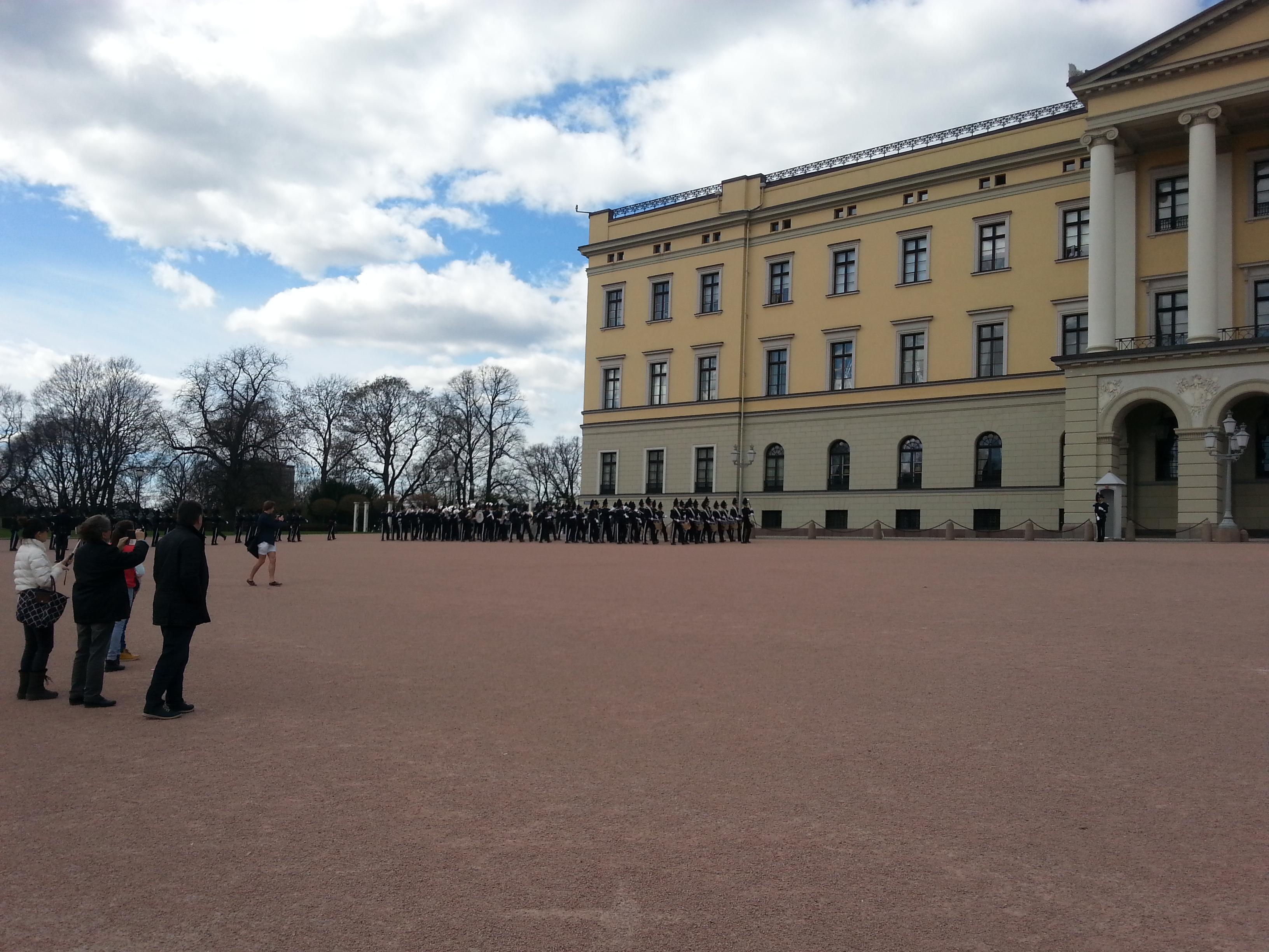 Norway's Royal Palace Guard Exchange - Oslo