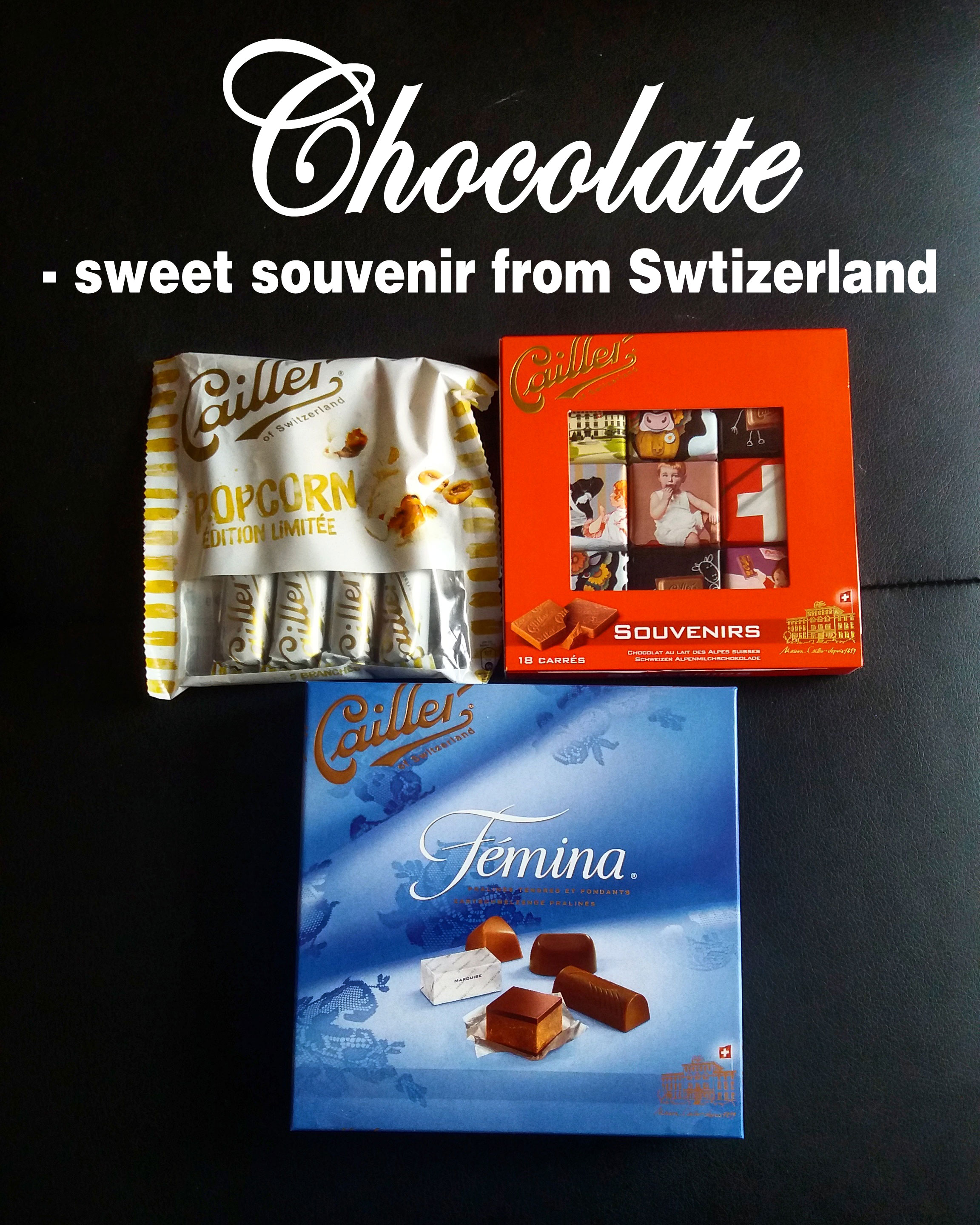 Chocolate - sweet souvenir from Switzerland
